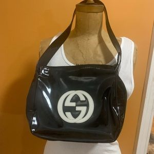 Gucci patent leather bag authentic